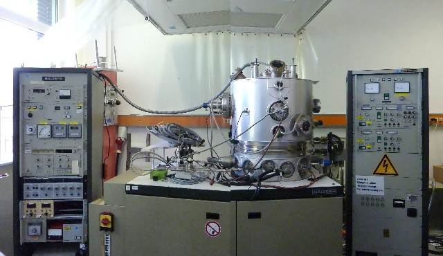 BALZERS UMS 500 Ultra High Vacuum Evaporator with 2 E-Guns and Ion Source